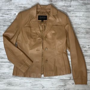 Wilson's Leather Tan Leather Jacket Size Small